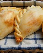"Beef and """"La vache qui rit"""" (cream cheese) empanadas"