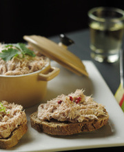 Potted tuna rillettes