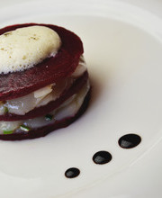 Napoleon scallops-beets