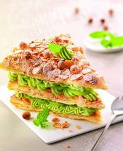VANILLA AVOCADO CREAM MILLEFEUILLE WITH KIWI BY YVAN CADIO