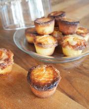 Breton salted butter caramels/lemon curd filled muffins