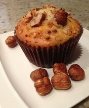 muffin noisette cœur nutella