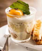Egg and hedgehog mushroom casserole