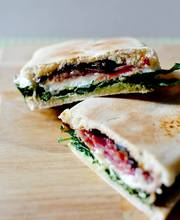 Goat cheese, prune and capocollo Panini