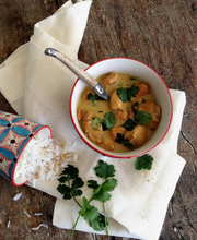 Coconut chicken curry with cilantro