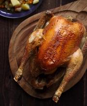 Tarragon chicken with lemon confit