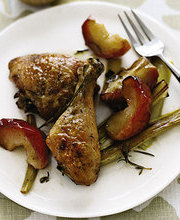 Roasted Chicken Apple Leek