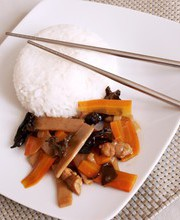 Stir-fried bamboo shoots