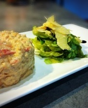 Balsamic chicken Risotto, with oven roasted tomatoes and parmesan crisp