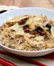Two mushrooms risotto