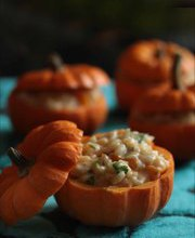 Pumpkin and Fourme d'Ambert (blue cheese) risotto