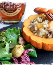 Four-spice pumpkin risotto