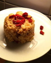 Sun-dried tomato risotto with parmesan