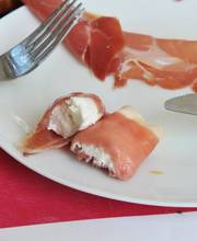 Serrano ham cannoli with goat cheese