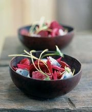 Beet and rollmop salad