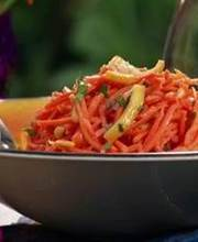 Very orangey carrot salad