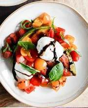 Honey roasted watermelon salad