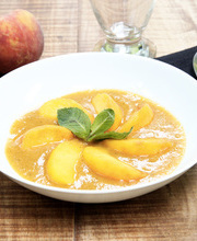 Refreshing peach soup