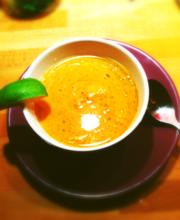 Tropical-style lentil soup