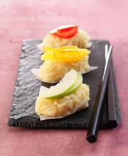 Fresh fruit sushi
