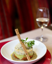 Cod tartare, guacamole and oven-roasted tomatoes