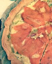 Tarte légère et rapide poireaux saumon