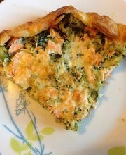 Broccoli and Salmon Pie