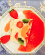 Terrine de fruits à la crème d'amande