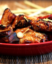 Caramelized pork ribs with ginger and lemongrass