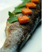 River trout with Espelette pepper sauce