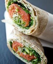 Smoked salmon and avocado wrap