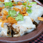 Banh Cuon (Vietnamese steamed rice rolls)