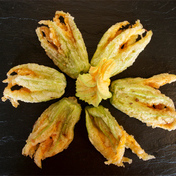 Zucchini flower fritters