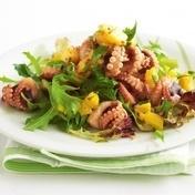 Squid and fennel salad with roasted garlic Aioli