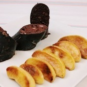 Blood sausage with apples