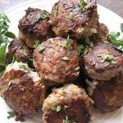 Meat balls with fresh herbs