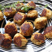 Chicken meatballs with marjoram