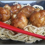 Chic, Chic, Chocolate's caramelized chicken meatballs