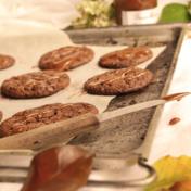 Dulce de leche brownie-cookies