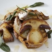 Bruschetta with porcini mushrooms and sage