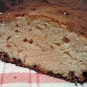 White chocolate cake with dark chocolate chips