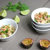 Shrimp ceviche with passion-fruit