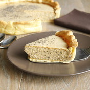 Cappuccino, vanilla and poppy-seed cheesecake