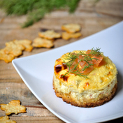 Salmon and dill cheesecake