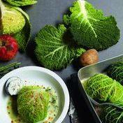 Walnut  and chorizo stuffed cabbage by Yyan Cadiou