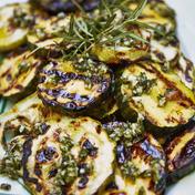 Rosemary pesto grilled zucchini