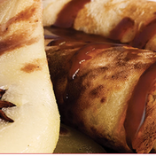 Pear crepes with nutella® sauce
