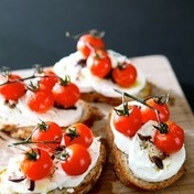 Cherry tomato crostini