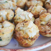 Savory goat cheese cupcakes