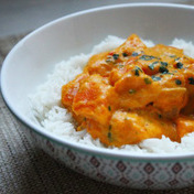 Quick kuri pumpkin curry with coconut cream